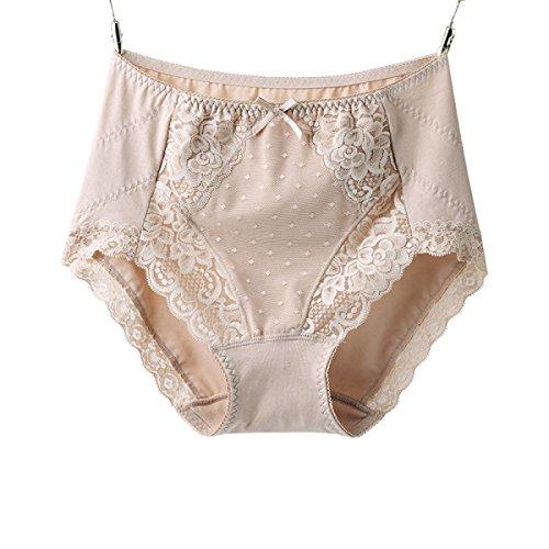 Ropa Interior Atractiva Del Cordón De La Tela De Algodón De Alta Cintura De Los Pantalones De Ropa Interior Femenina 2 Bolsas a3