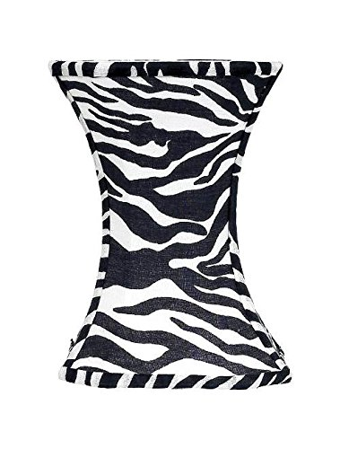 (Jubilee Collection Medium Hourglass Shade in Zebra Pattern)