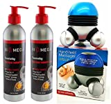 Bio-Mega Penetrating Heat Therapy Cream Pack of 2, With free Hand - Held Massager.