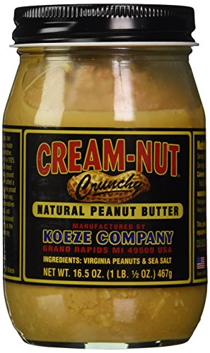 Cream Nut Natural Crunchy Peanut Butter, 16.5 - Rim Cream