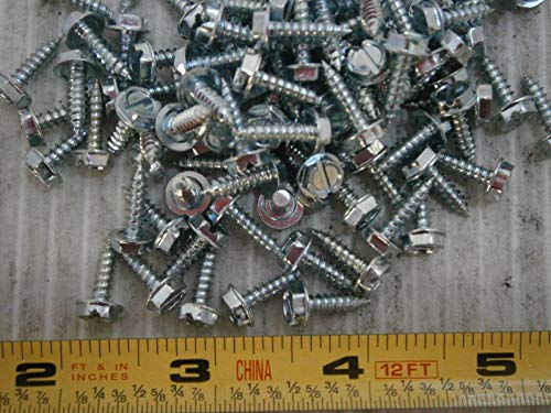 Metal Screws 6 x 1/2 Slotted Hex Washer Head Type A Steel Zinc Lot of 200#1602 - Quality Assurance from - Pci Backplate