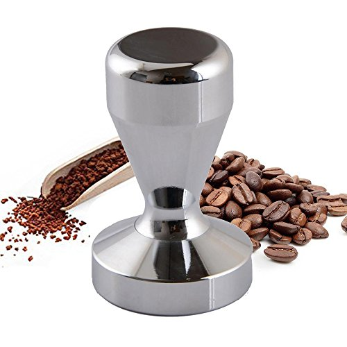 Doinshop Espresso Tamper Premium Barista Solid Stainless Steel Coffee Tamper (51mm/2 inch Base, Silver)