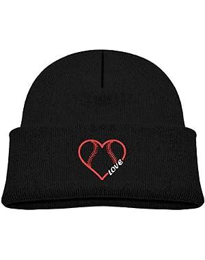 Funny Baseball Softball Love Printed Baby Girl Boys Winter Hat Beanie