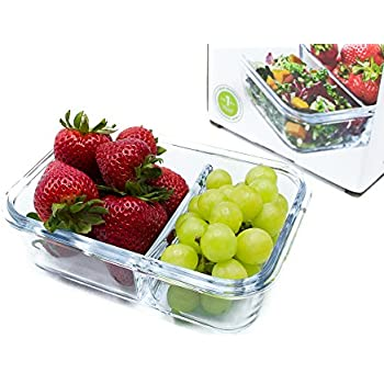 Amazon Com Premium Glass Meal Prep Food Storage Container