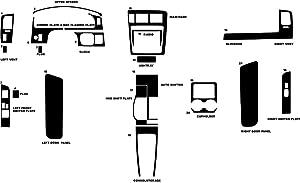 Rvinyl Rdash Dash Kit Decal Trim for Toyota Tacoma 1998-2000 - Carbon Fiber 4D (Silver)