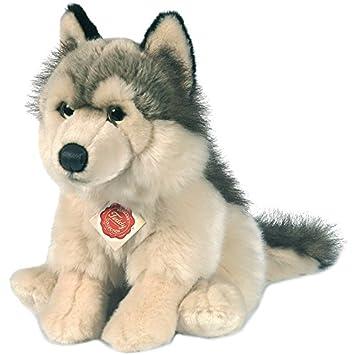 Hermann Teddy Colección 927389 29 cm lobo sentado peluche: Amazon.es: Juguetes y juegos