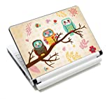 Three Owls Fashion Netbook Laptop Skin Sticker Reusable Protector Cover Case for 11.6' 12.1' 13' 13.3' 14' 15' 15.4' 15.6' Inch Apple Acer Asus Toshiba Hp Samsung Dell Leonovo Sony Laptop YNEK-125