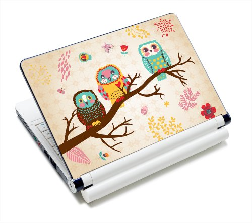 Three Owls Fashion Netbook Laptop Skin Sticker Reusable Protector Cover Case for 11.6