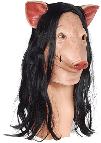 [Trick or Treat Studios Men's Saw-Pig Mask, Multi, One Size] (Pig Saw Mask)