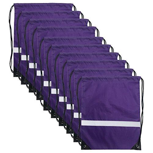 Reflective Bags - Drawstring Backpack Reflective Cinch Sacks Bulk for Gym Travel (Draw String)