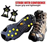 Limm Crampons Ice Traction Cleats – Grips Quickly and Easily Over Footwear for Snow and Ice – Portable -Sizes: S/M/L/XL