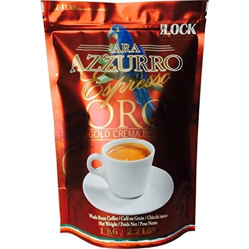 6 Pack PromoAra Azzurro 1kg Red ORO Espresso Whole Beans. Premium Blended Beans Freshly Roasted For Ultimate Satisfaction. by Ara Azzurro