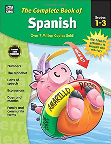 Workbook 4th grade spanish worksheets : The Complete Book of Spanish, Grades 1 - 3: Thinking Kids, Carson ...