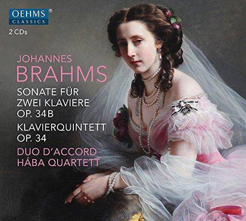 Johannes Brahms: Sonate fur Zwei Klaviere, Op. 34B - Klavierquintett, Op. 34 ()
