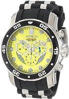 Invicta Men's 6978 Pro Diver Collection Chronograph Yellow Dial Black Polyurethane Watch by Invicta