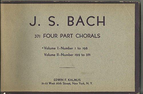 J. S. Back 371 Four Part Chorals Vol 1 & 2 SET