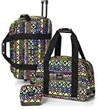 Victoria's Secret PINK Women's 3 Piece Luggage Travel Set Rainbow Aztec