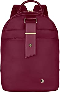 "Wenger 606983 ALEXA 13"" Women's Laptop Backpack, Padded laptop compartment and Essentials organizer with anti-scratch lining in Cabernet {11 Litres}"