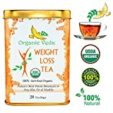 Organic Moringa Weight Loss Tea (28 Potent Tea Bags). Herbal Tea with Weight Loss properties. USDA Certified Organic. Rich in Antioxidants and Daily Needed Essential Nutrients and Weight Loss Ingredients. No Artificial Flavors or Preservatives. All Natura
