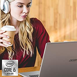 Acer Aspire 5 A515-55-56VK, 15.6″ Full HD IPS Display, 10th Gen Intel Core i5-1035G1, 8GB DDR4, 256GB NVMe SSD, WiFi 6, HD Webcam, Fingerprint Reader, Backlit Keyboard, Windows 10 Home