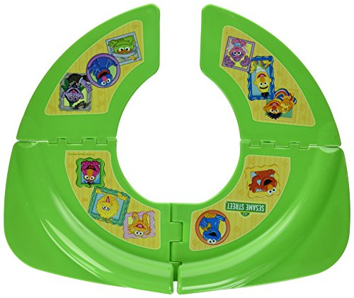 Sesame Street Framed Friends Folding Potty Seat - For Standard Toilets - Regular For Home or Travel Use - 18 Plus Months - Green - Comes With Travel-Ready Bag - Folding Potty