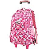 Vbiger Girl's Wheeled Backpack Trolley School Bag Travel Rolling Backpacks Review