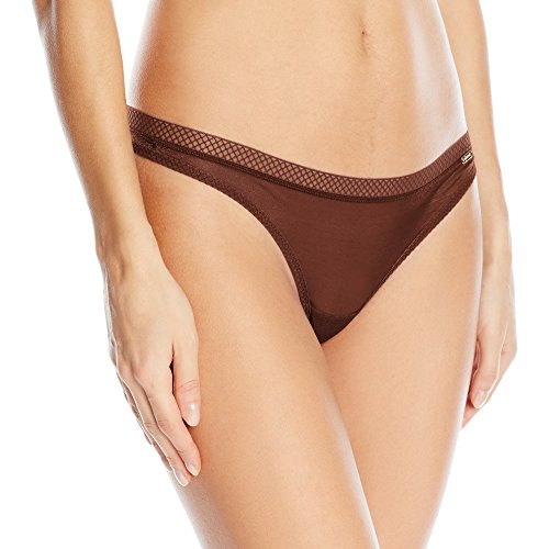 Gossard Women's Glossies Thong, Rich Brown, Medium
