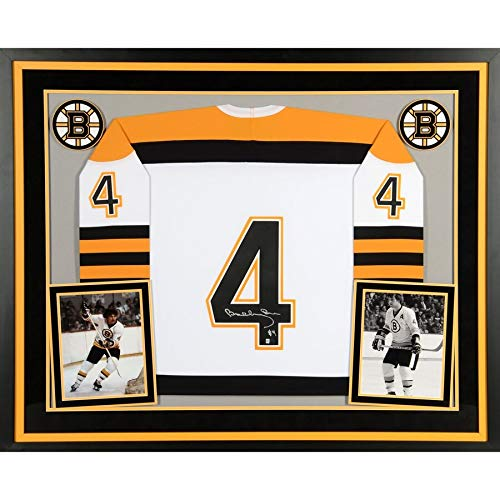 Bobby Orr Signed Jersey - Bobby Orr Boston Bruins FAN Authentic Deluxe Framed Autographed Signed White Mitchell & Ness Jersey - Certified Signature
