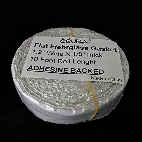 Adhesive Backed Wood Stove Door Gasket,Fiberglass Rope Seal,Flat 1/8''X 1.2'' Wide X 10 Foot/roll by CCUFO (Image #4)