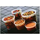 10 oz food container - 192-piece Plastic Clear Deli Container Combo / 48 SETS each 8-16 oz Delitainer