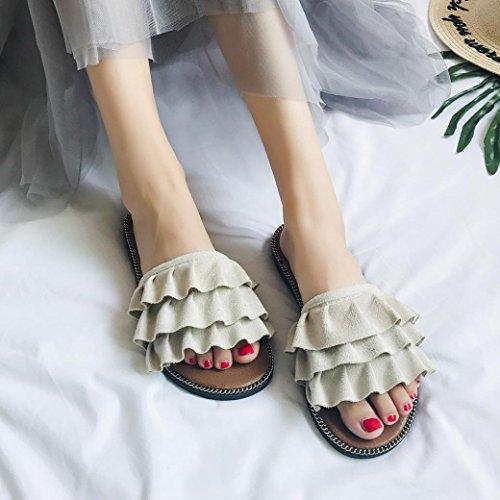 Sandales Femmes, Yesmile Femmes Bohême Sandales D'été pour Femmes Pantoufles D'intérieur en Plein Air Tongs Décontractées Sandales Confortables Blanc
