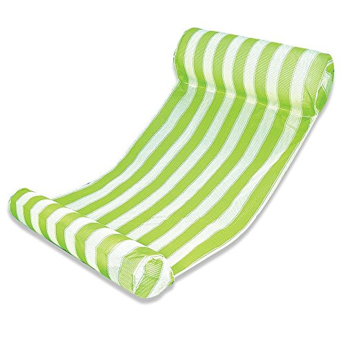 FLYMEI Water Hammock Lounge Swimming Pool Floats, Inflatable Pool Lounger - Green