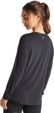 Rockwear Activewear Women's Drape Front Top Black 10 from Size 4-18 for