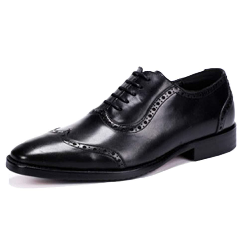Oxford Schuhe Männer Gummi Sohlen Schwarz Hochzeit Lace Erste Up Lackleder Brogues Schuhe Erste Lace Schicht Leder Business Kleid Schuhe schwarz 21aff6