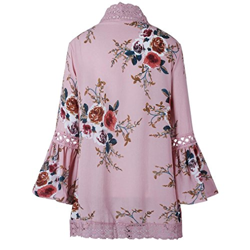 Dcontract Rose Floral Femmes Dentelle Cardigan Familizo Cardigan Kimono Veste Femme pour v6FwBYq