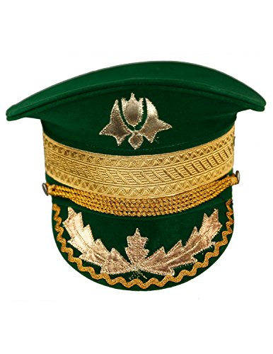 Sunshine Joy Adult Madcap Indian Marching Band Hat Green Small]()