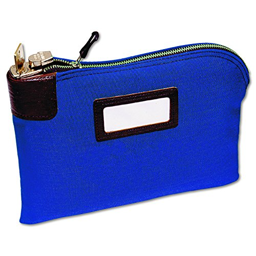 Mmf Industries Seven Pin Security Night Deposit Bag With 2 Keys  11 X 8 1 2 Inches  Royal Blue  2330881W08
