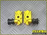 Area 22 Kawasaki Z125 Z 125 Pro Z125 Swingarm Spool Adapters Mounts (Gold)