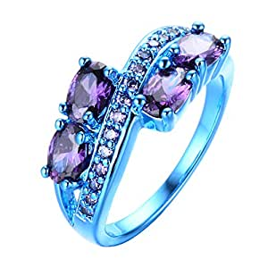 Amazon Com Bamos Jewelry Lab Purple Stone Cubic Zirconia