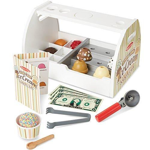 20 Piece Scoop and Serve Ice Cream Counter Set, Kids Play Set