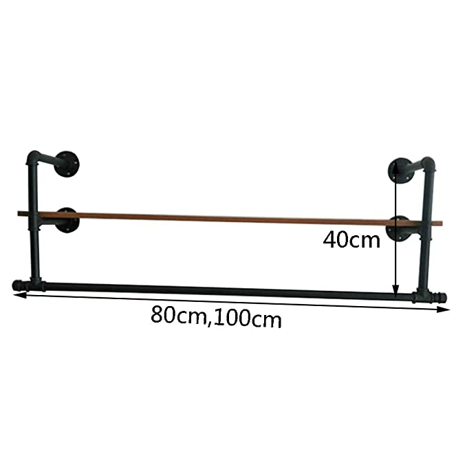 Amazon.com: COAT RACK, Wrought Iron Wall-Mounted Clothing ...