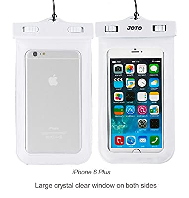 JOTO Universal Waterproof Case Bag Pouch for iPhone and Android Smartphones, Apple iPhone 6, 6 plus, 5S 5C 5 4S, Samsung Galaxy S6, S5, S4, S3, Samsung Note 4/3/2, LG G4 G3, Motorola MOTO, Nokia, Sony, HTC One M9 M8 M7, [Cellphone Waterproof Life Pouch, S