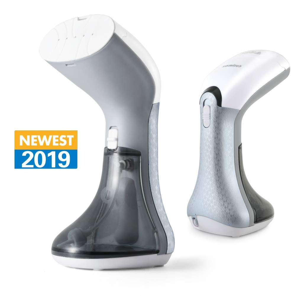 Garment Steamer, Portable Clothes Steamer for Travel & Business Trips, Handheld Steamer with Fabric Brush, 360 Anti-Drip, 25s Fast Heat Up, Cusimax
