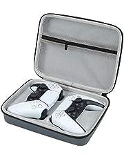 Bolsa de armazenamento com controle de jogo duplo para PS5/PS-4, estojo de transporte impermeável para Gamepad com ranhura integrada para controle PS5 e pequenos acessórios