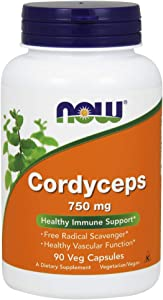NOW Supplements, Cordyceps (Cordyceps sinensis)750 mg, Healthy Immune Support*, 90 Veg Capsules