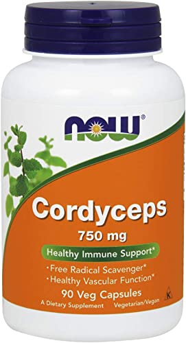 NOW Supplements, Cordyceps Cordyceps sinensis 750 mg, Healthy Immune Support*, 90 Veg Capsules