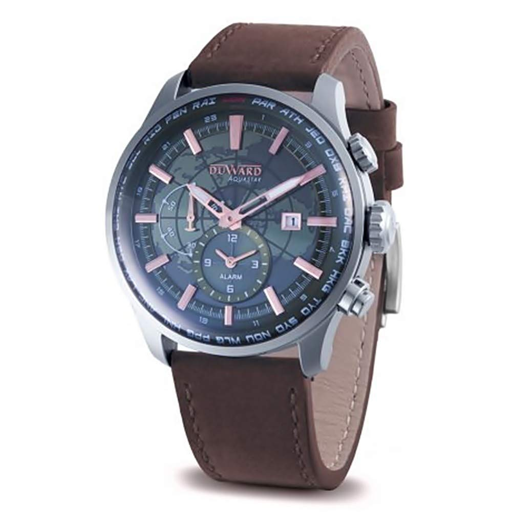 eff90522493a Reloj Duward Aquastar World Time para hombre D85704.03  Amazon.es  Relojes