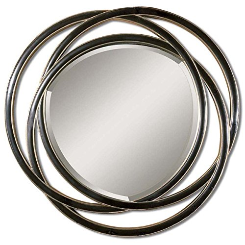 Uttermost 14522 B Odalis Entwined Circles Mirror, Black
