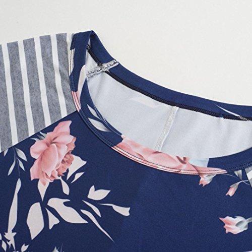 camisas mujer verano 2017 casual Switchali blusas manga larga camisas mujer tallas grandes ropa de mujer en oferta vestidos de fiesta Suelto camisa hawaiana funky chalecos mujer Azul