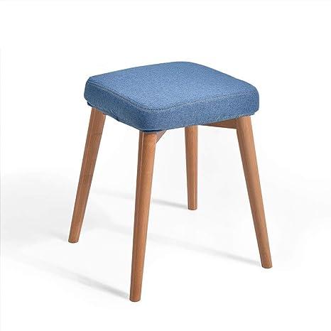 Zichen Wooden stool Taburete de Madera, cojín de Esponja de ...